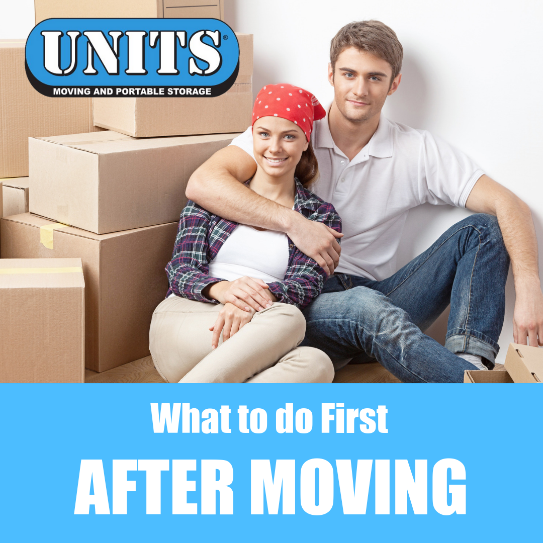 What to do First After Moving