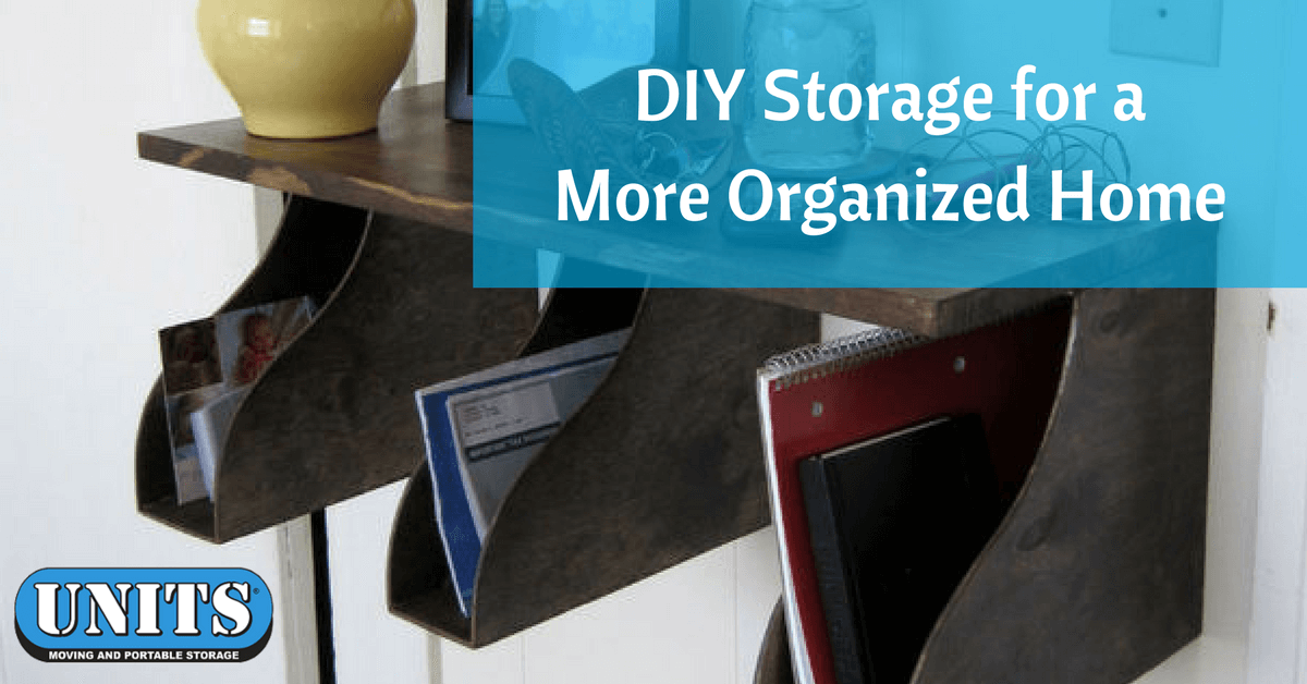Even if you are using storage services for some of your larger items everyone could use more space for the smaller things that take up a large amount of ... & DIY Storage for a More Organized Home - Portable Storage UNITS ...