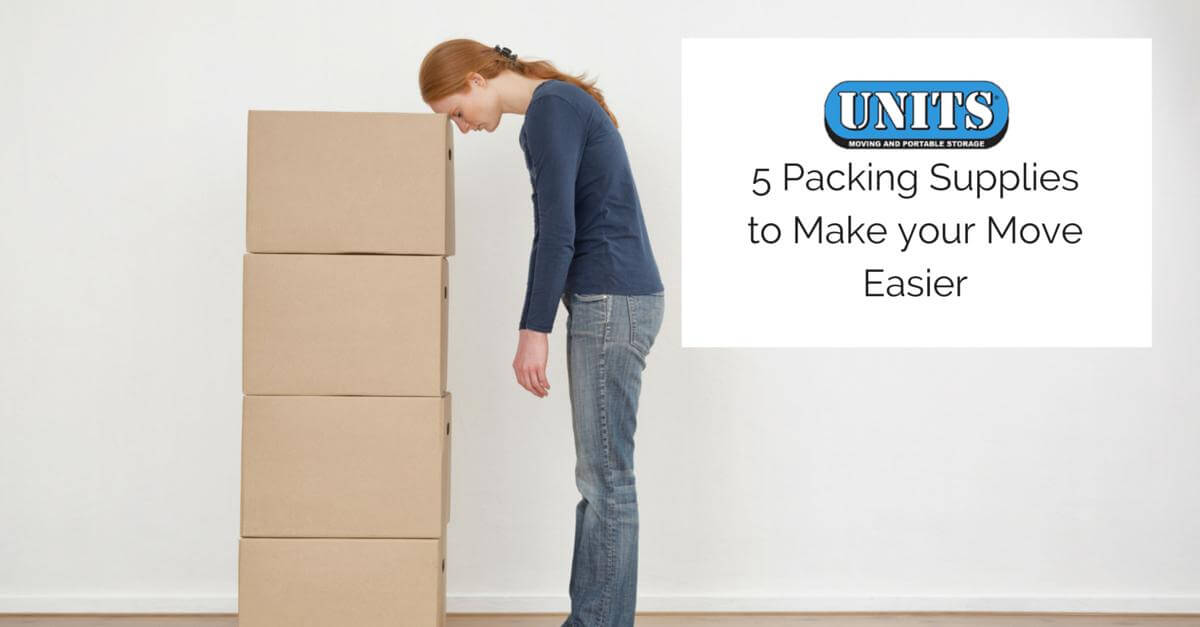 5 Packing Supplies to Make your Move Easier | UNITS Moving and Portable Storage