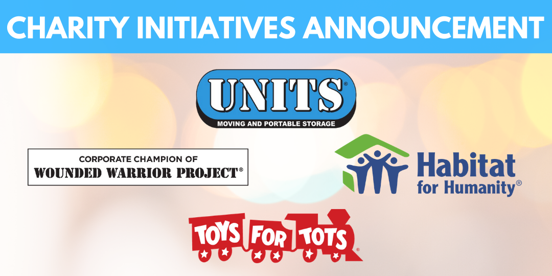 UNITS Moving & Portable Storage Announces Charity Initiatives