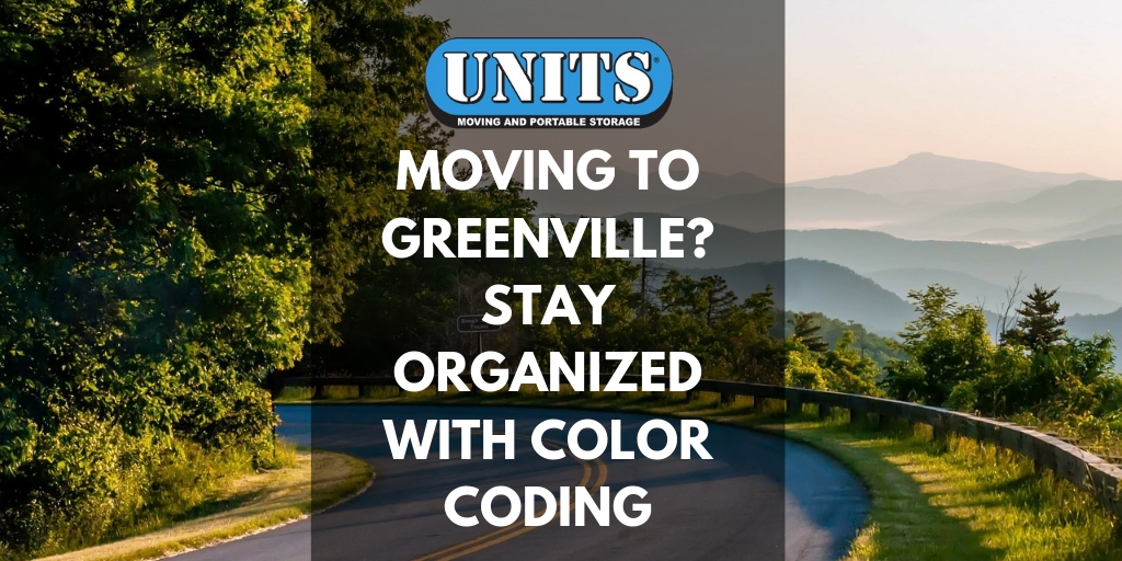 Moving to Greenville? Stay Organized with Color Coding | UNITS of Greenville