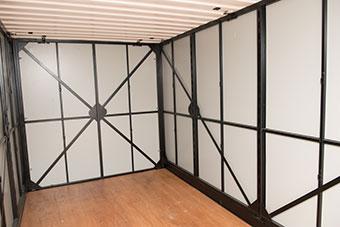 UNITS container interior